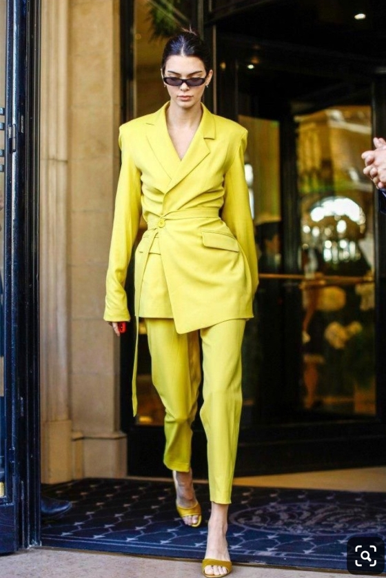 Kendall Jenner Yellow Suit
